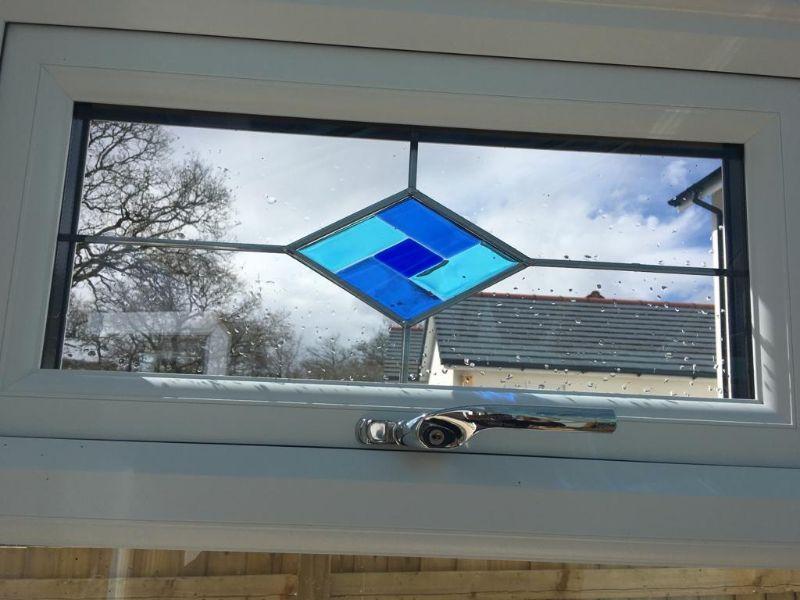 a blue Murano glass insert