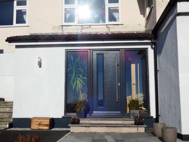 modern anthracite grey composite door